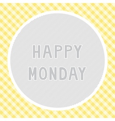Happy monday background vector