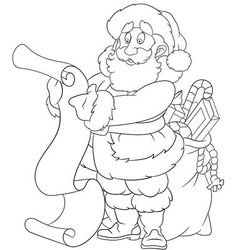 Happy cartoon santa claus vector