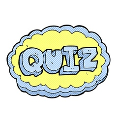Comic cartoon quiz sign vector