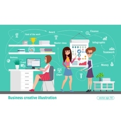 Business creative  women office vector