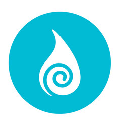 abstract water symbol on a circle vector image vector image