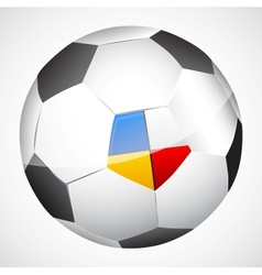 ball with flags vector image vector image