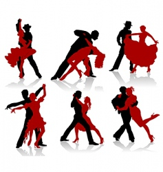 ballroom dancer vector image