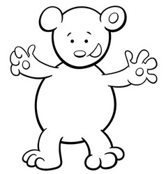 Bear cartoon coloring book vector