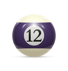 Billiard twelve ball isolated on a white vector