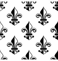 Classical french fleur-de-lis pattern vector