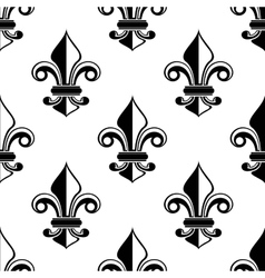 Classical French fleur-de-lis pattern vector image vector image