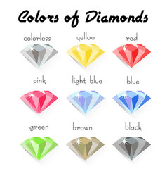 colors of diamond vector image vector image