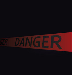 Danger tape in dark background vector