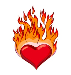 Flaming hearts vector