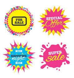 for sale sign icon real estate selling vector image vector image