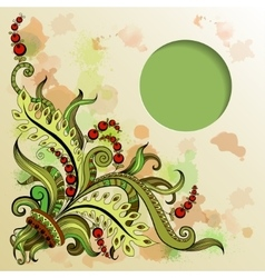 frame with hand-drawing pattern vector image vector image
