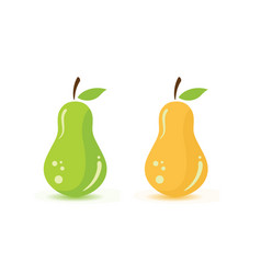 Fresh pear fruit food design vector