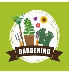 Gardening design Botany icon Flat vector image vector image