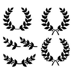 Laurel wreath black vector
