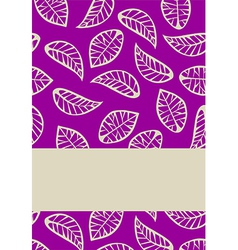 Leaves on purple background vector image vector image