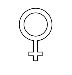Line femele gender symbol to special event vector