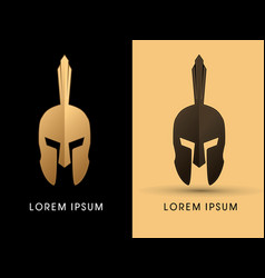 Luxury roman or greek helmet vector