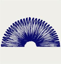 Metal spring vector image vector image