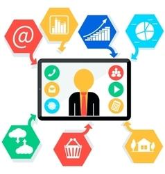 Mobile App Digital Tablet Flat vector image