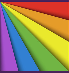 overlapping colorful paper sheets in colors of vector image