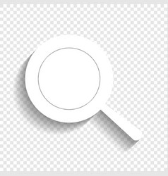 Pan sign white icon with soft shadow on vector