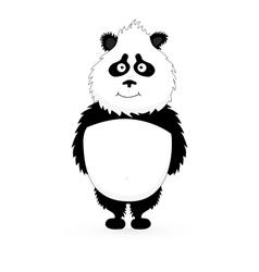 Panda Cute Panda Cartoon vector image