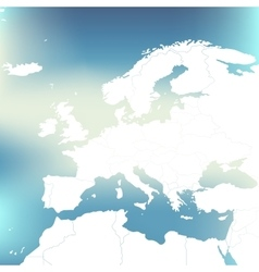Political map of europe abstract blurred vector