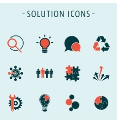 Set solution icons vector image vector image