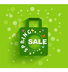 Shopping bag spring sale background vector