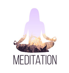 yoga balance concept vector image vector image