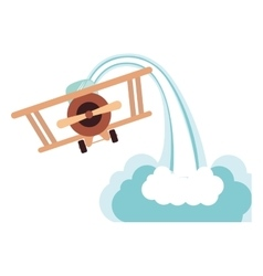 Isolated toy airplane damaged design vector