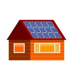 Sun energy house vector image