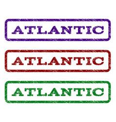 Atlantic watermark stamp vector