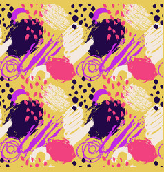 hand drawn abstract grunge seamless pattern vector image