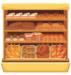 Bread showcase vector