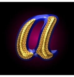 Golden and blue letter a vector