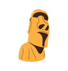 Easter island moai statue isolated on white vector