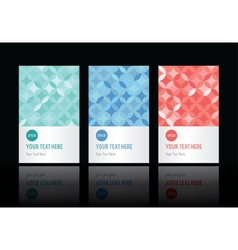 Geometric pattern set of cards vector