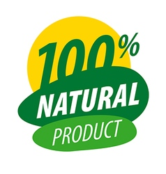Abstract logo for 100 natural products vector
