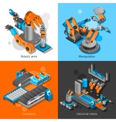 Industrial robot set vector