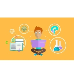 Man learning ability concept design vector