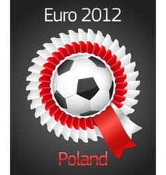 Football poland ukraine badge symbol vector