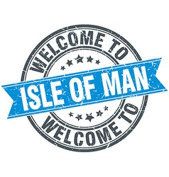 Welcome to isle of man blue round vintage stamp vector