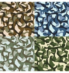 Army camouflage hunter combat camo vector
