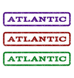 Atlantic watermark stamp vector