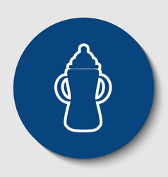 baby bottle sign white contour icon in vector image vector image
