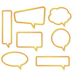 bubble speech border vector image vector image