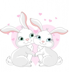 Cartoon bunnies vector