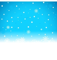 Christmas blue background with snow flakes vector image